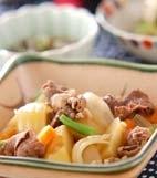 シンプル肉ジャガ風煮物の献立