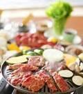 「カルビとタンの焼き肉」の献立