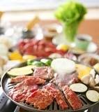 カルビとタンの焼き肉の献立