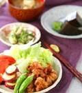 「鶏の唐揚げ&野菜揚げ」の献立