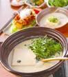 豆乳の湯豆腐の献立