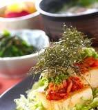 キムチのせ豆腐ステーキの献立