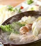 鶏の水炊き鍋の献立