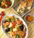 「春キャベツの八宝菜」の献立