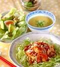 「エビ豆腐チリソース」の献立