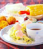 七夕梅おろし素麺の献立