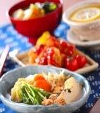 白菜と厚揚げの煮物の献立