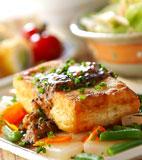 豆腐ステーキ・みそ味の献立