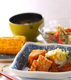 揚げ天と白菜の煮物の献立