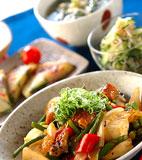ウナギと豆腐の炒め煮の献立