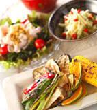 網焼き野菜の献立