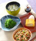 炊き込み玄米ご飯の献立