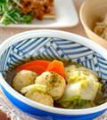 「鶏肉団子の煮物」の献立