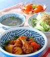 鶏手羽元の中華煮の献立