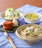 里芋の炊き込みご飯の献立