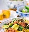 「豚肉とニラのソース炒め」の献立