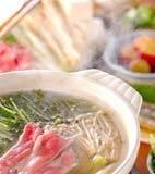 豚しゃぶ水菜鍋の献立