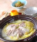 「ポン酢でいただく 白菜たっぷりカキの味わい鍋」の献立