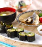 茶そば巻き寿司の献立