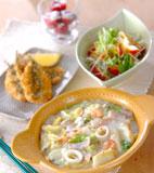 白菜の海鮮クリーム煮の献立