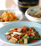 うまい菜とウナギの炒め物の献立