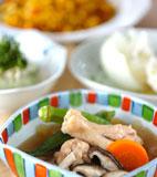 手羽元のスープ煮の献立
