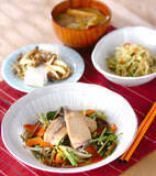 ブリと水菜のサッと煮の献立