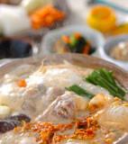 鶏肉のキムチ豆乳仕立ての献立