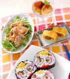 スマイル巻き寿司の献立
