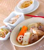 豚バラ肉と根菜のポトフの献立