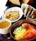 「冷やしゴマ素麺」の献立
