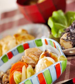 鶏と餅の治部煮の献立