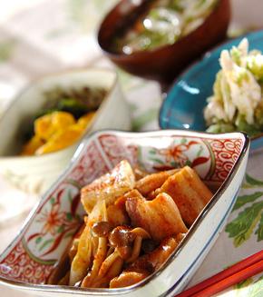 豚肉と焼き豆腐の煮物の献立