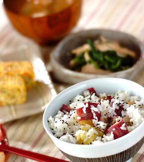 焼き芋たっぷり混ぜご飯の献立