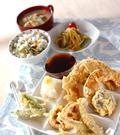 「ワカサギと野菜の天ぷら」の献立
