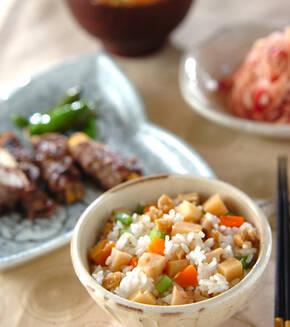 タケノコの混ぜご飯の献立