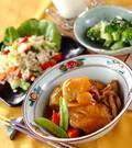 「エビ芋と手羽の煮物」の献立