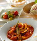 「カレー風味のイカとトマトのサッと煮」の献立