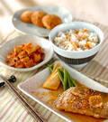 「カレイのゴマ風味煮物」の献立