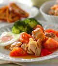 「鶏とトマトの黒コショウ炒め」の献立