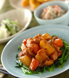 鶏と大根の中華煮の献立