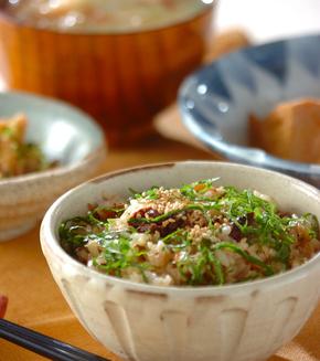 ブリの照り焼き混ぜご飯の献立