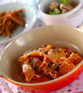 タラのトマト煮の献立