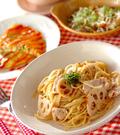 「レンコンと鶏の梅スパゲティー」の献立