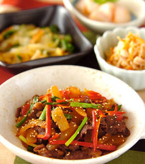 牛肉と大根の韓国風煮込みの献立
