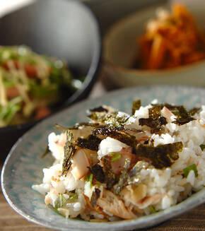 ホッケの混ぜ寿司の献立