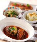 「ピーマンの肉詰めトマト煮」の献立