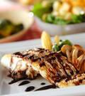 「白身魚のバルサミコソテー」の献立