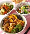 焼き野菜と油揚げのゴマ酢和えの献立