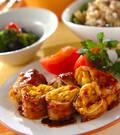 「豚肉のパンプキンチーズ巻き」の献立